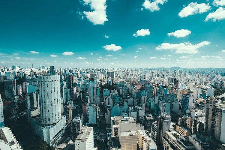 Blick über eine Metropole