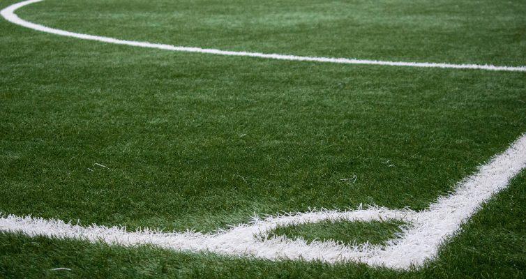 Fußball-Spielfeld Ecke