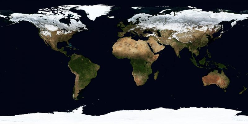 Satellitenkarte der Welt